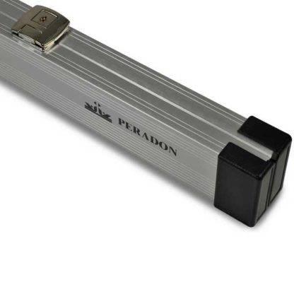 Peradon Silver Aluminium Cue Case 3QTR