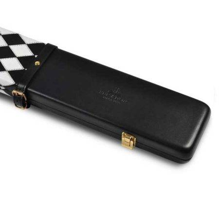 Peradon Black White Leather 3QTR Case