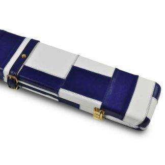 Peradon Blue White Leather 3QTR Case