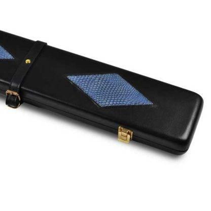 2696 Peradon cue case black & large diamond pattern case