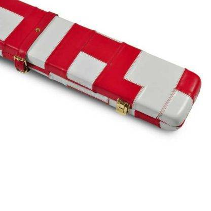 Peradon White Red Leather 3QTR Case