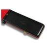Peradon Leather Case Black and Red 3/4