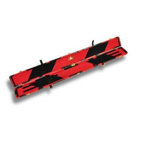 Peradon Leather Cue Case Black and Red Patchwork