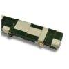 Peradon Leather Case Green and Cream Patchwork