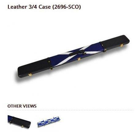 Peradon Leather Cue Case Scottish Flag