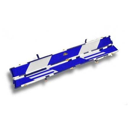 Snooker cue case blue & white patch