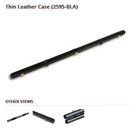 Peradon Thin Leather Cue Case in Black