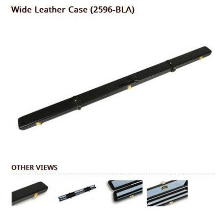 Peradon Wide 1pc Black Leather Cue Case