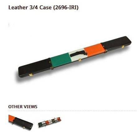 Peradon Leather Cue Case Irish Flag