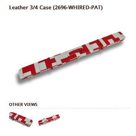 Peradon Leather Cue Case White and Red Patchwork