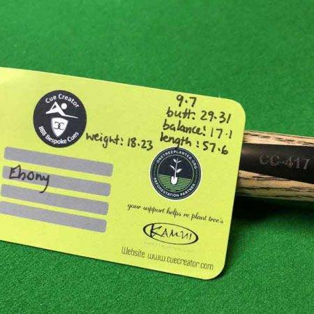 CC417 specs of billiard cue ebony