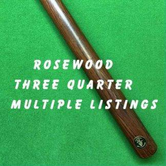 Three Quarter Rosewood Billiard Cue