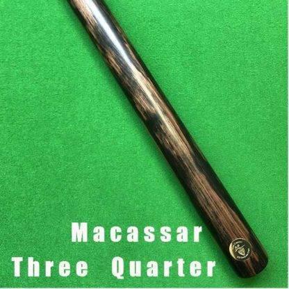 Macassar Billiard Cue Three Quarter