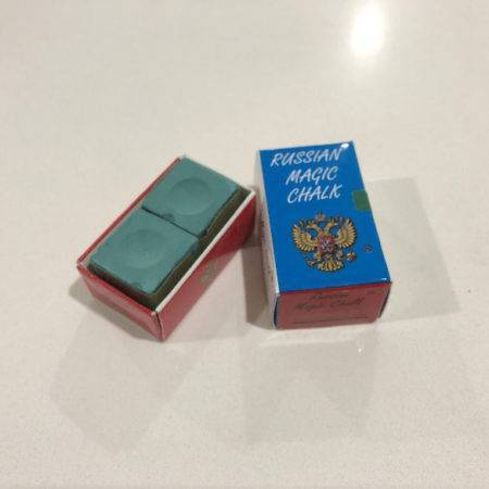 russian magic chalk box of two for snooker